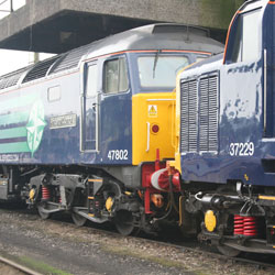 Class 47 and Class 37 Diesel at Carnforth