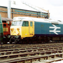 Class 50 Diesel at Crewe Open Day