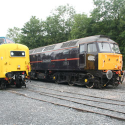 Class 55 and Class 47 Diesel at Carnforth
