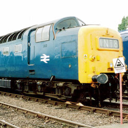 Class 55 Diesel at Crewe Open Day