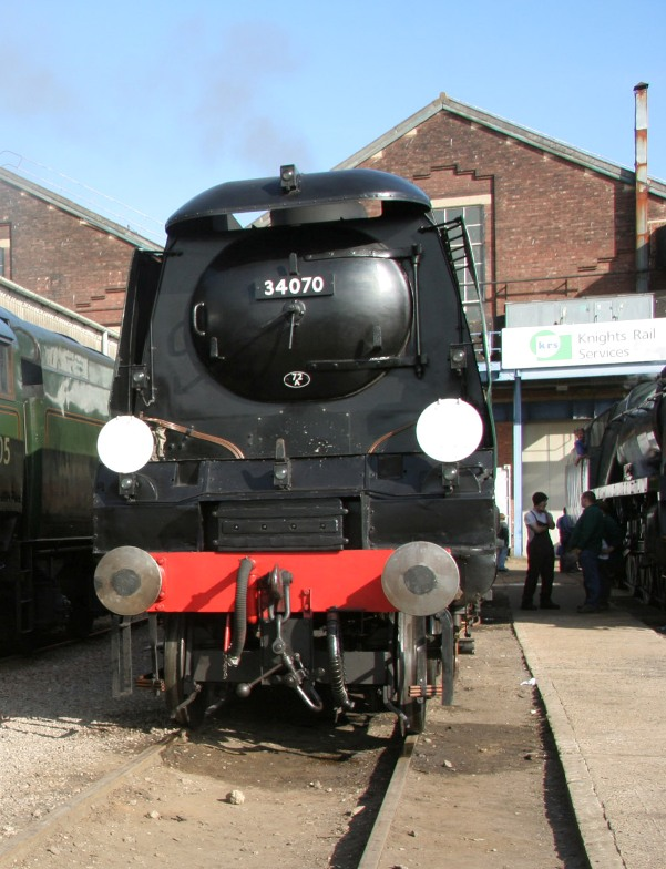 34070 at Eastleigh Works - by Phil Marsh