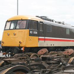 Class 82 Electric at over bogies