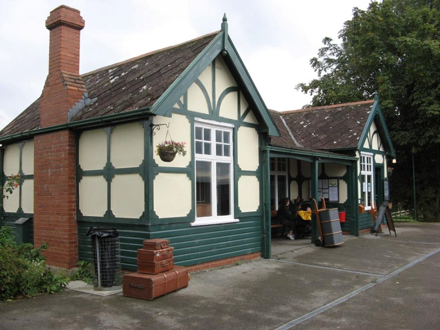 4. The station building, a DVR original recovered from Wheldrake. Paul Bickerdyke