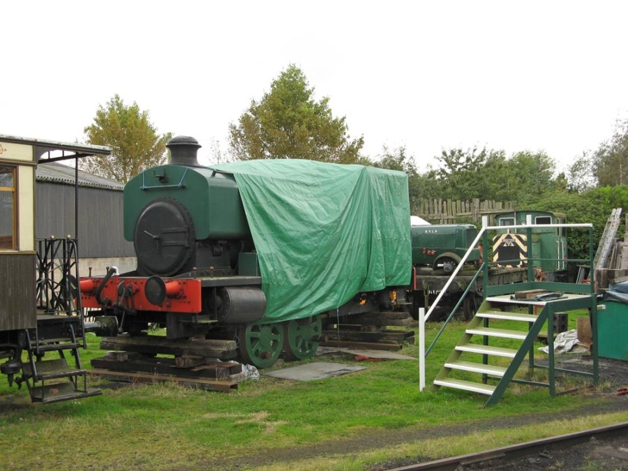 5. Andrew Barclay steam loco No. 8 under repair. Paul Bickerdyke