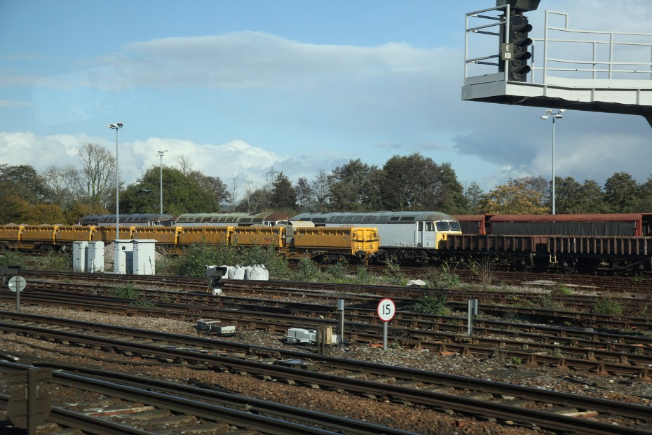 class 56 at Eastleigh yard five hours befire departure to crewe by phil marsh