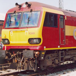 Class 92 Electric at Crewe