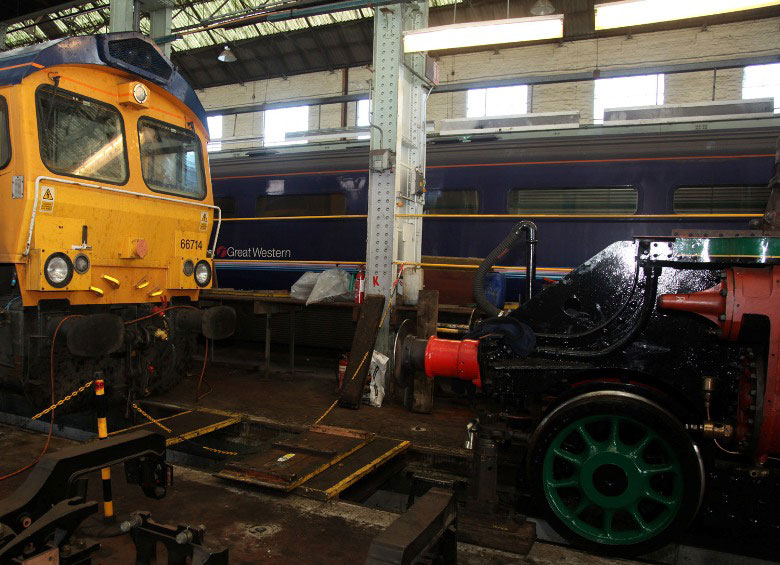FGW Buffet cars stored in Eastleigh Works by Phil Marsh