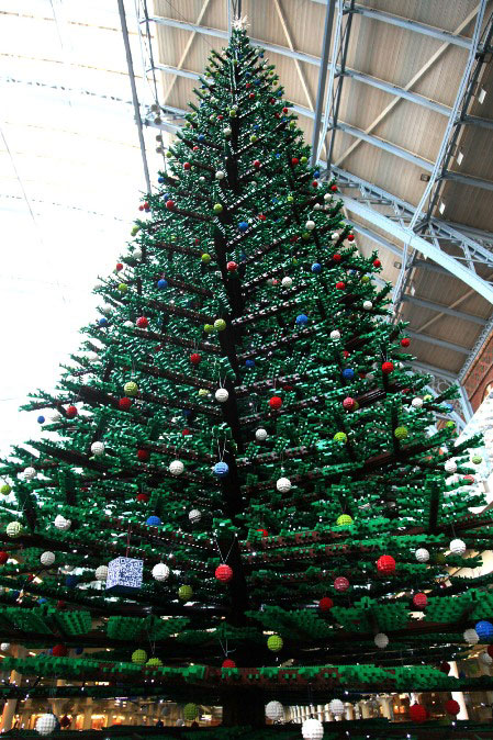 st pancras lego xmas tree by Phil Marsh