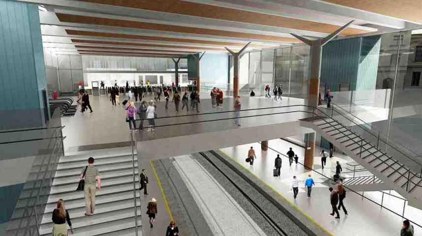 Farringdon new interior by Network Rail