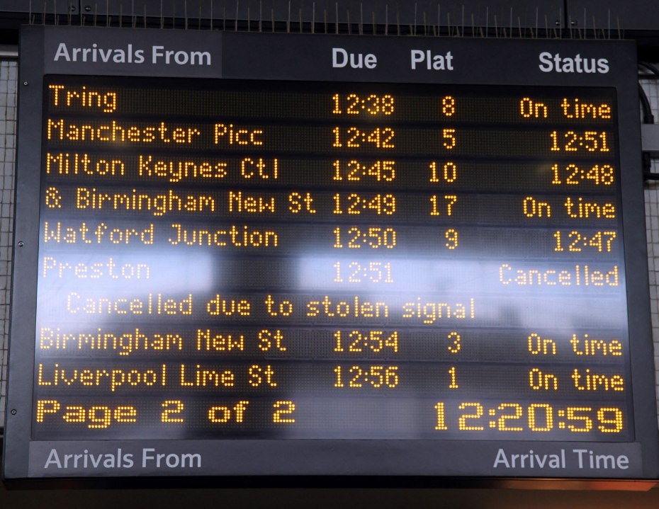Delays and cancellations by Phil Marsh