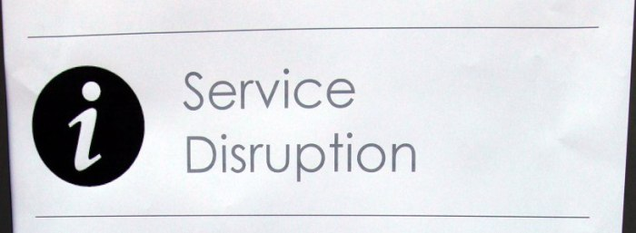 Disruption notice by Phil Marsh