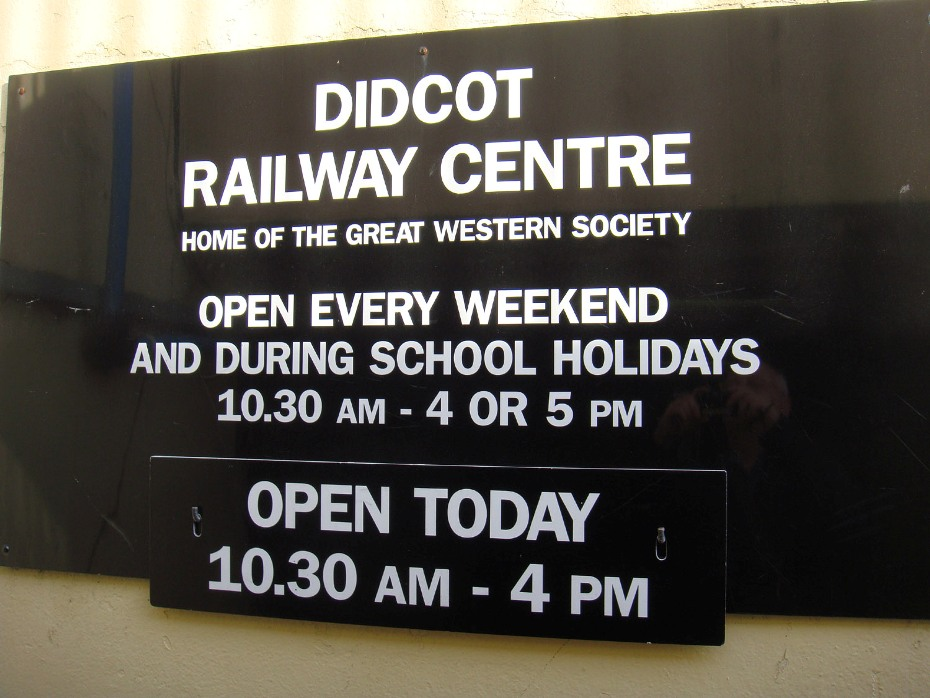 GWS Didcot information by Phil Marsh