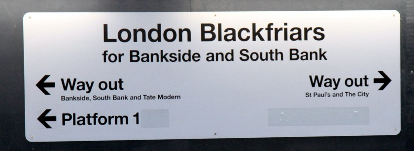 new signage for two exits at Blackfriars from Phil Marsh