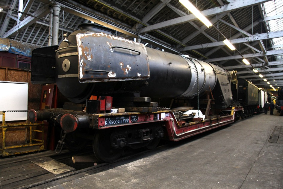 flying scotsman boiler at Bury by phil marsh