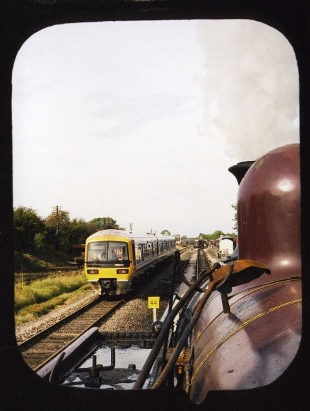 1990s quainton shuttle from footplate of Met No. 1 Phil Marsh