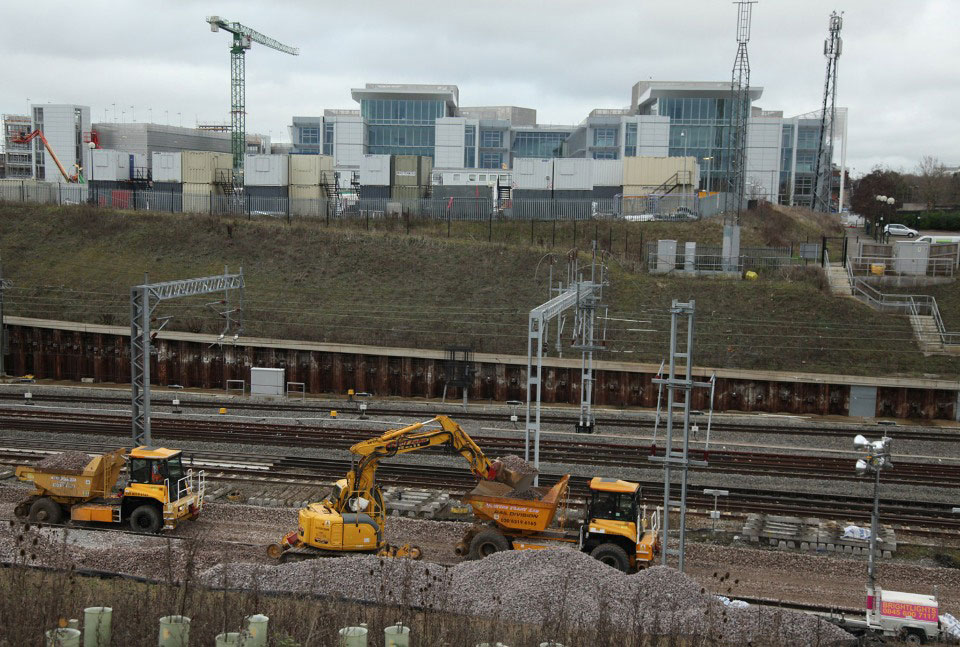 boxing day 2011 milton keynes new track and Network Rail HQ building by phil marsh