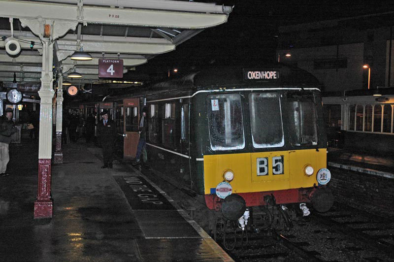 Class 108 DMU Nos. 51565 and 50928 at Keighley on December 30, 2011 with the 18.00 to Oxenhope. Paul Bickerdyke.