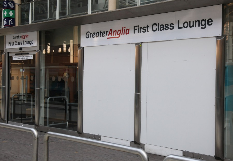 greater anglia 1st class lounge liverpool street by phil marsh