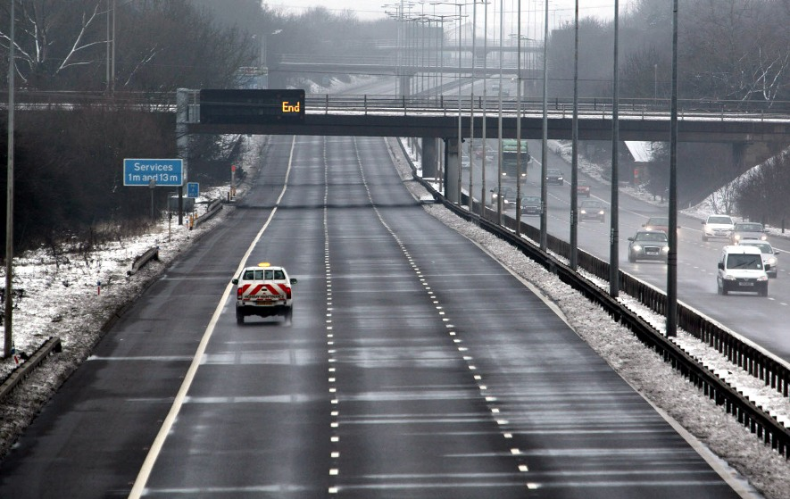 M1 motorway shut northbound feb 5 phil marsh