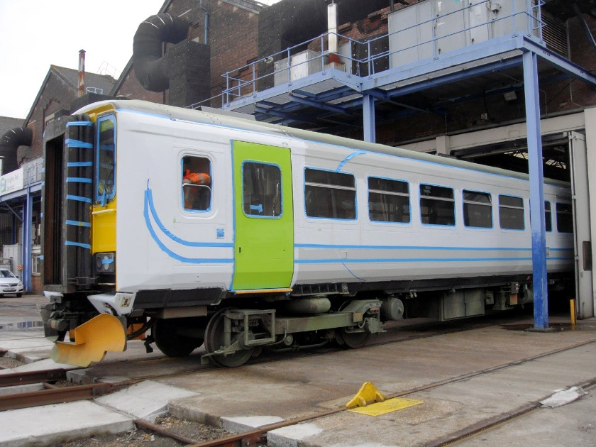 eastleigh class 15x diesel unit repainting phil marsh jan 2009