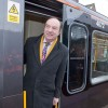 Transport Minister Norman Baker aboard refurbished Metrocar No. 4072 at Benton