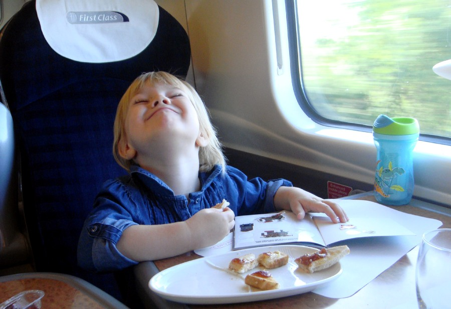 1st class service on a virgin train by Phil Marsh