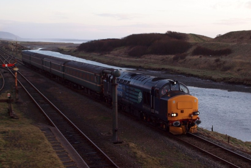 The trial runs of the Carlisle – Sellafield – Barrow commuter train, January 2012