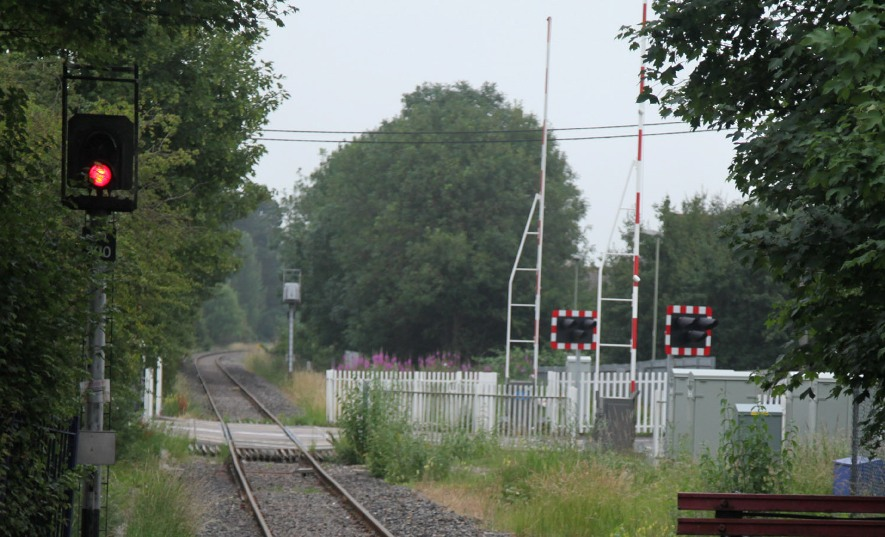 level crossing with barriers at Bicester phil marsh