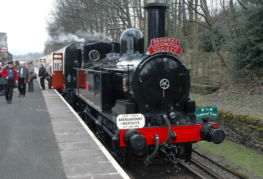 No. 1054 and its relaunch train at Ingrow.Paul Bickerdyke