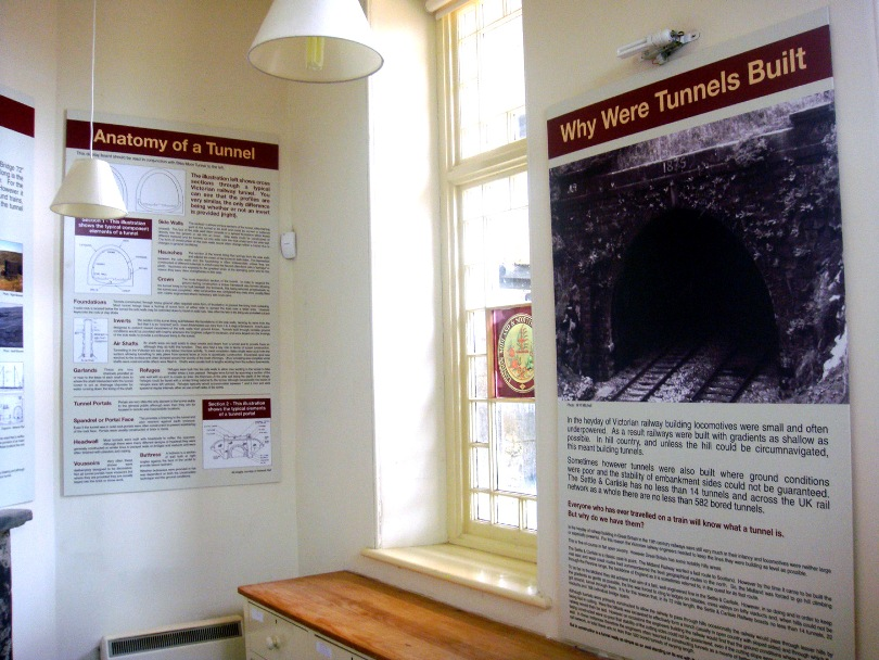 Ribblehead visitor centre tunnel information panels copyright Phil Marsh