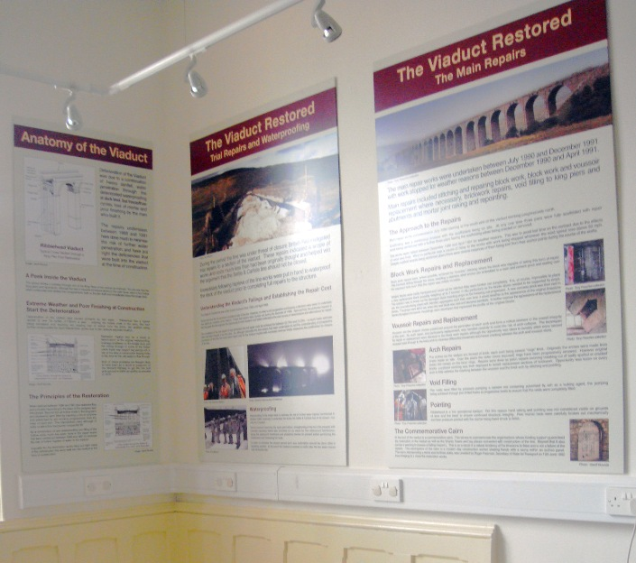 Ribblehead visitor centre viaduct panels copyright Phil Marsh