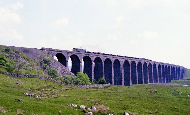 Ribblehead viaduct class 25 ballast train copyright Phil Marsh