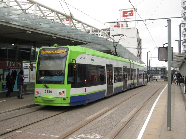 east croydon tram at station by Phil Marsh