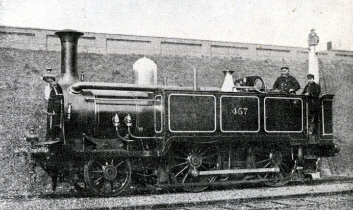 GWR condensing tank No 457 at earls court in 1876 used from 1863 Phil Marsh collection