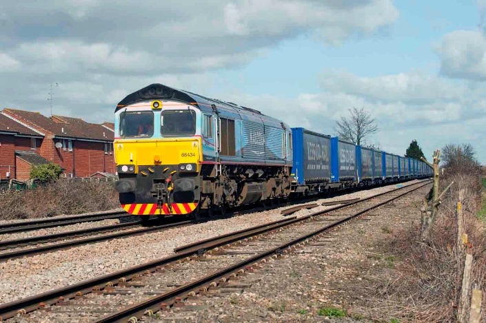 Tesco train with 66434 at Ashchurch by Jack Boskettx.
