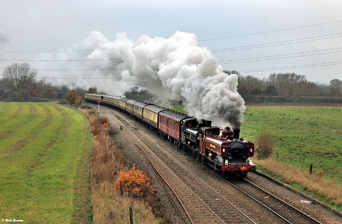 Vintage trains sold out pannier tank excursion from November 2011 at stenson