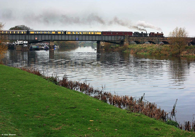 Vintage trains sold out pannier tank excursion from November 2011 on river trent