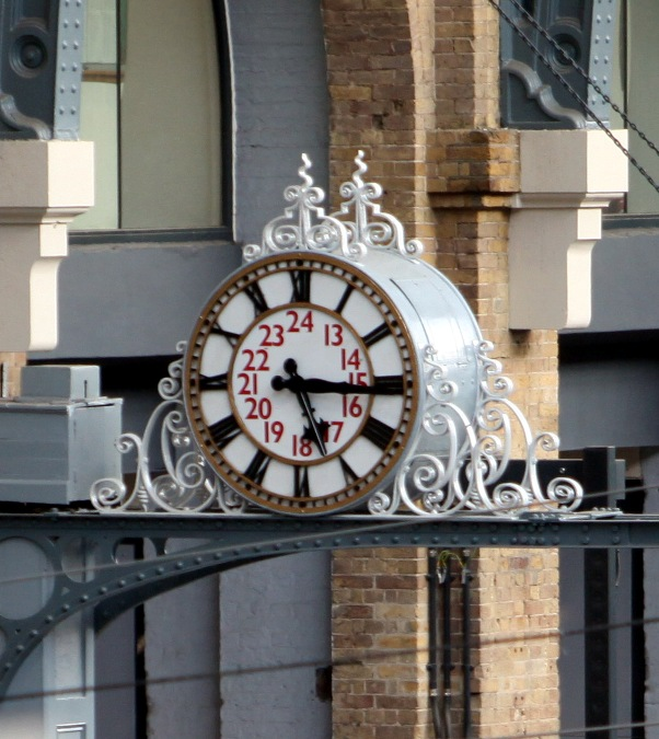 Original station clock by Phil Marsh