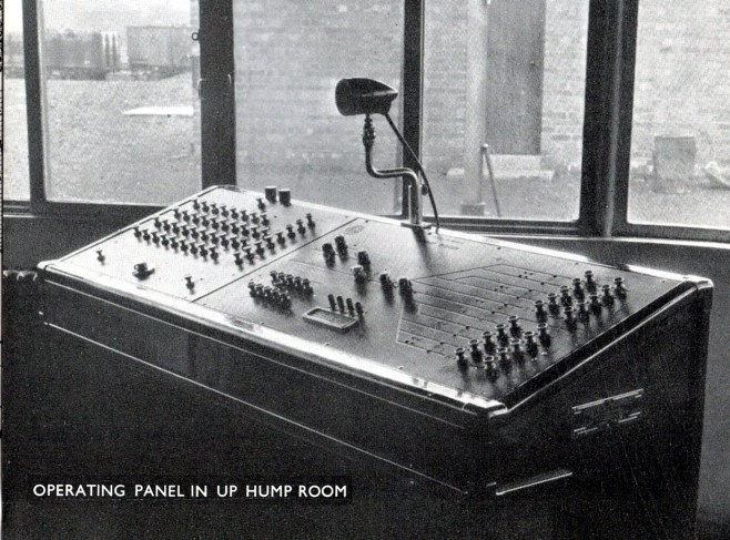 Hump shunting control panel by Phil Marsh