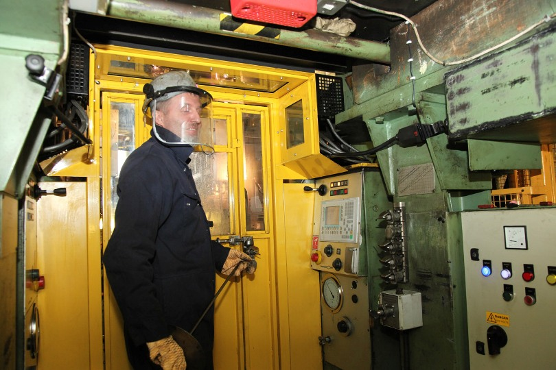 Wimbledon wheel lathe operator Phil Marsh