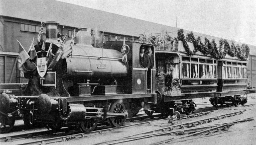 Royal Train Swansea Docks Mumbles Railway, 1904, Phil Marsh collection.