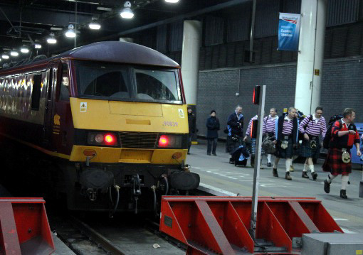 Sleeper arrives at Euston, by Phil Marsh