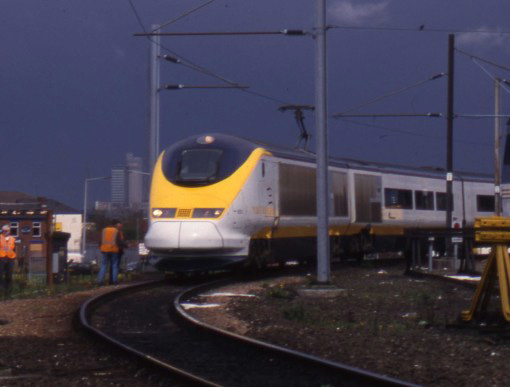 Eurostar testing in Manchester, by Phil Marsh