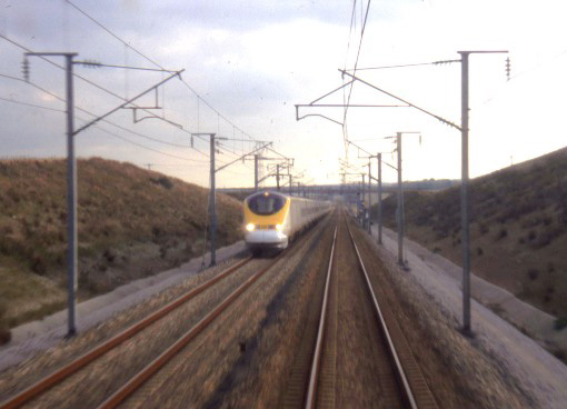 Passing Eurostar drivers, by Phil Marsh