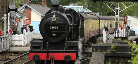Steam Train Leaving Grosmont
