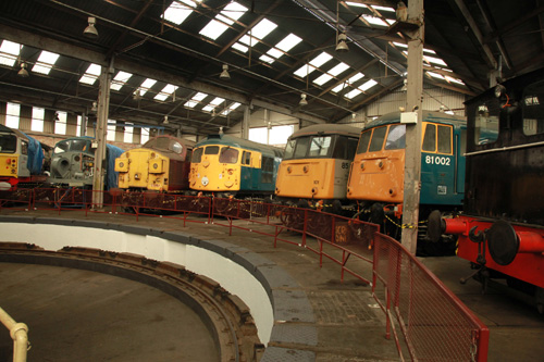 Barrow Hill non steam exhibits by Phil Marsh