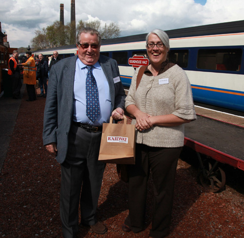 Barrow Hill VIPs Sir William Mcalpine and Helen Ashby by Phil Marsh