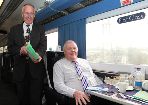 UK Railtours John Farrow and Doug Linsdsay