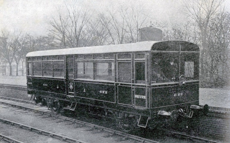 1912 great western railway petrol electric motor coach