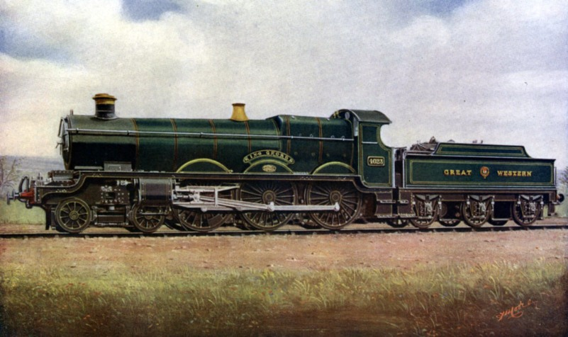 1912 gwr express passenger engine King George No 4023